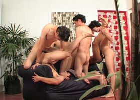 6 Latin Twinks Sex Orgy