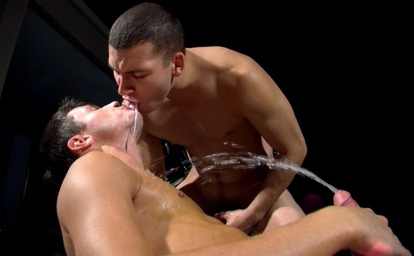 Damon Archer and Jimmy Roman Poolside Wet Fuck